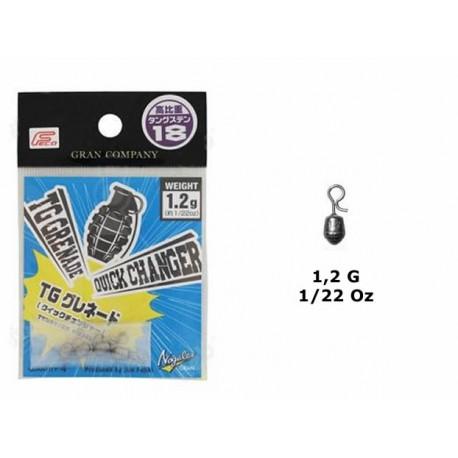 Nogales - Tungsten Grenade Sinker - Quick Changer - 1-2 G