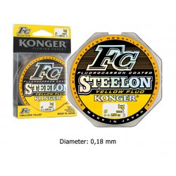 Steelon - Yellow Fluo Fluorocarbon coated - 0.18 mm