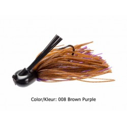 Keitech - Tungsten Skirted Jighead - 7 Gr - 008 Brown Purple