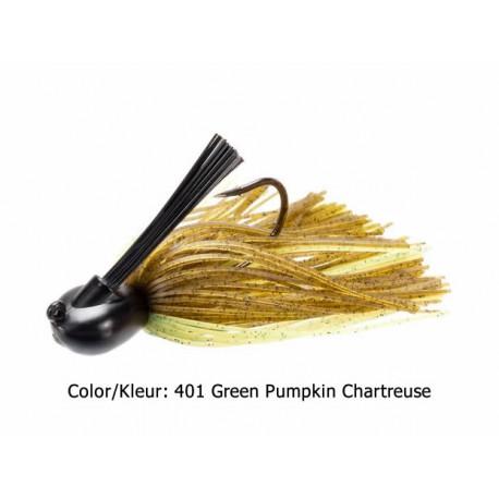 Keitech - Tungsten Skirted Jighead - 7 Gr - 401 Green Pumpkin Chartreuse