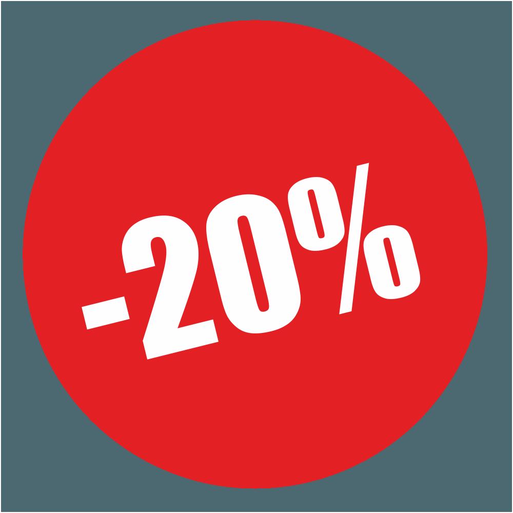 -20% reduction
