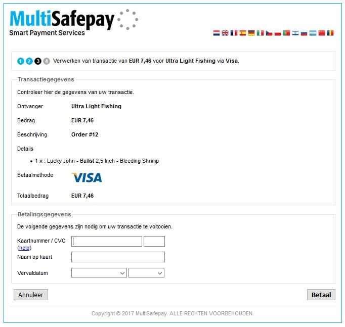 Redirect Multisafepay