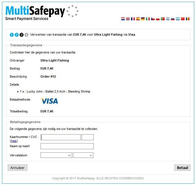 Redirect Multisafepay